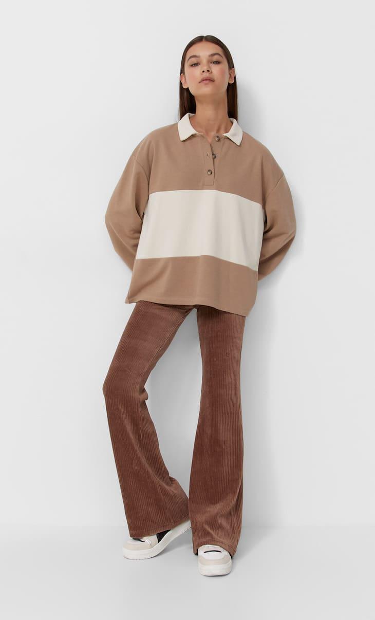 Flare corduroy leggings