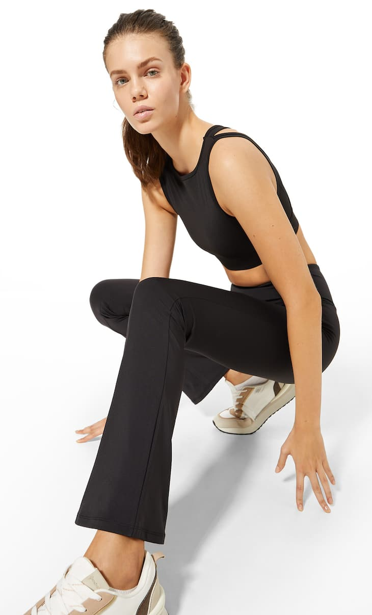 Cool touch flared sports leggings