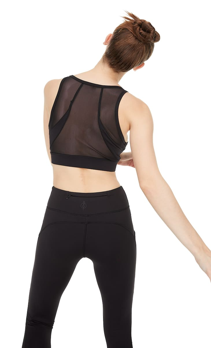 Cool touch tulle sports top