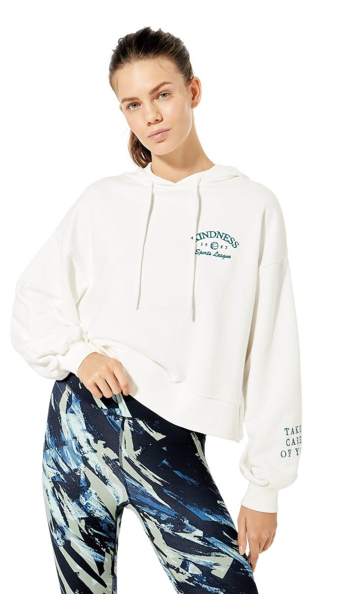 Embroidered sports sweatshirt