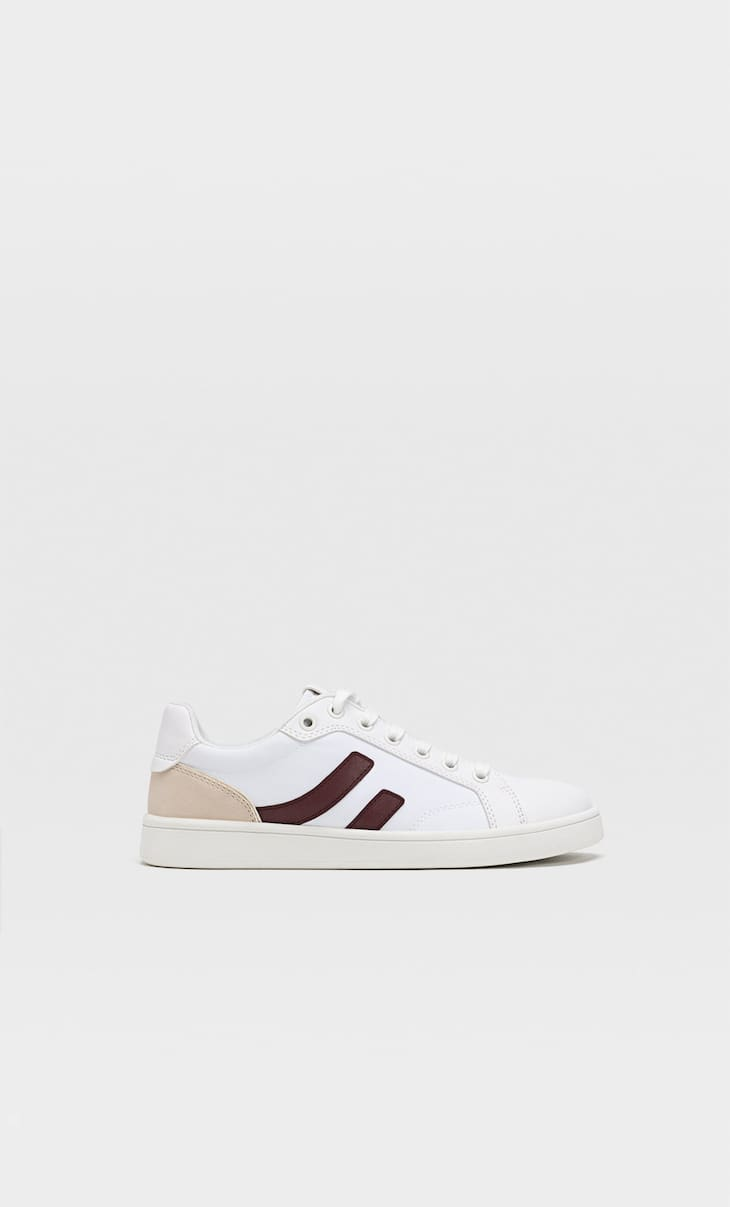 White trainers with side stripe detail