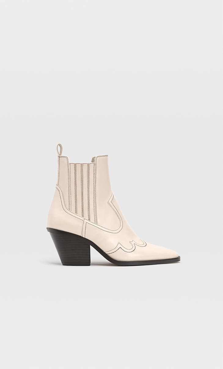 Cowboy ankle boots with heel