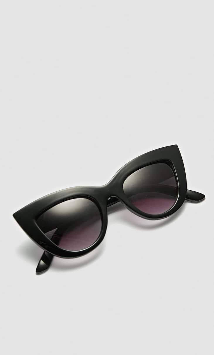 Große Cateye-Sonnenbrille