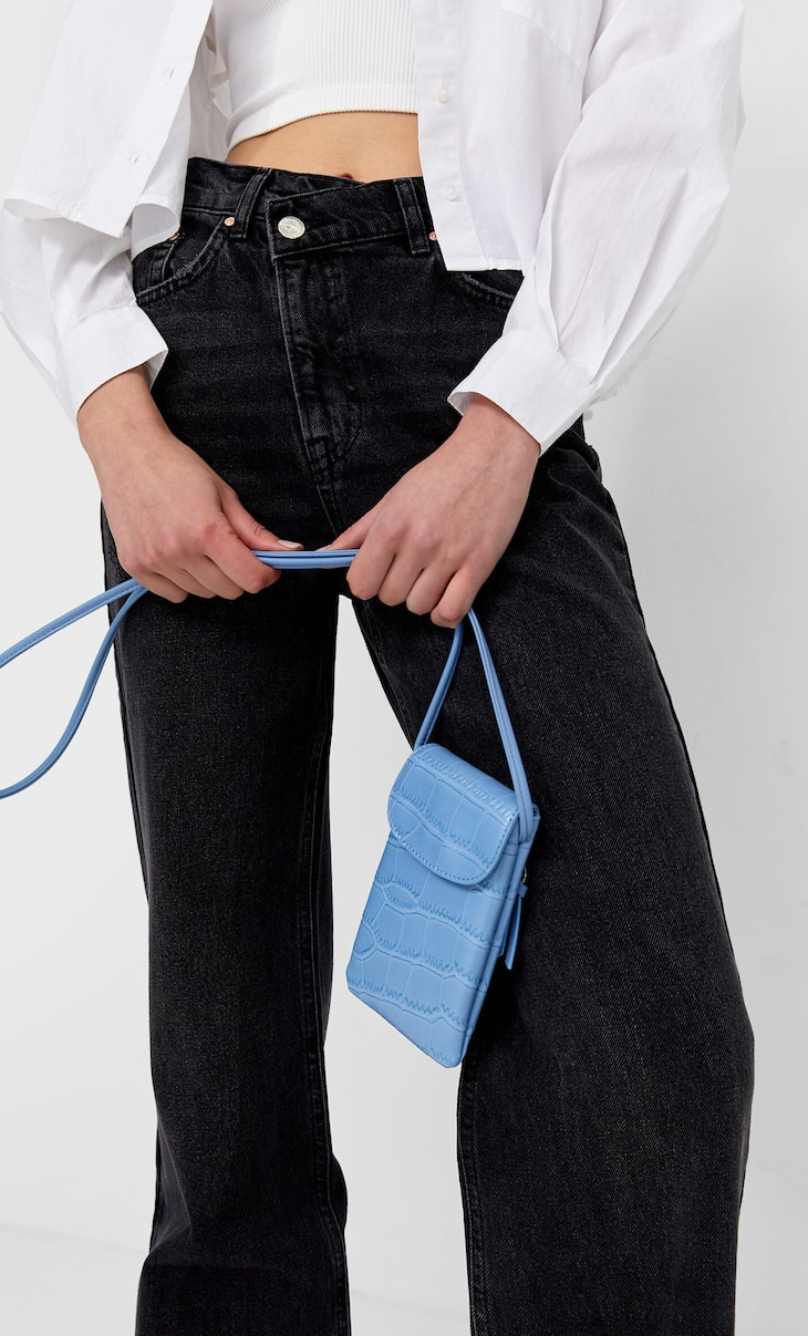 Sac besace effet croco pour smartphone