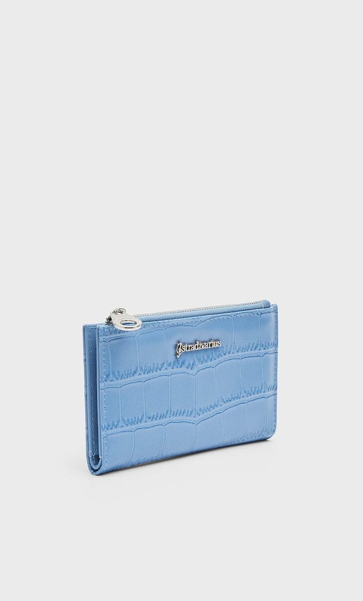 Mock croc effect purse