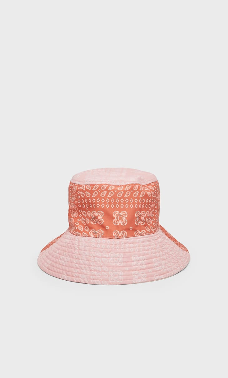 Reversible paisley bucket hat
