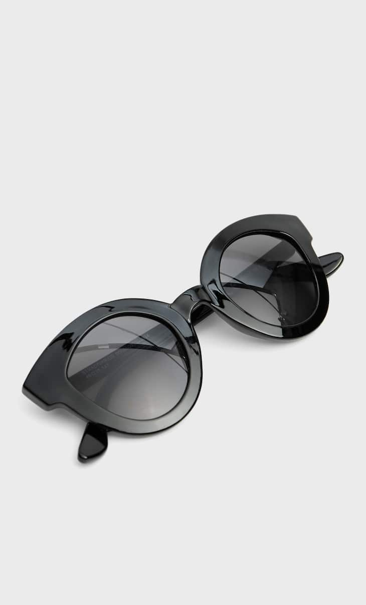 Round resin sunglasses