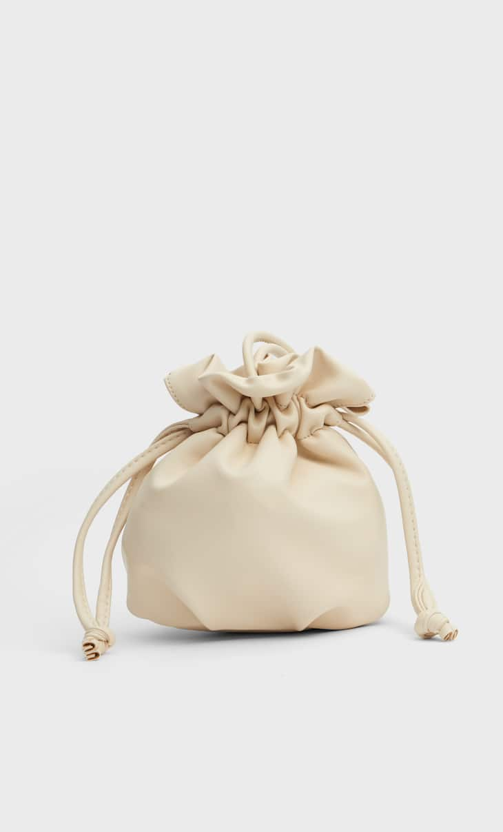 Gathered bucket bag