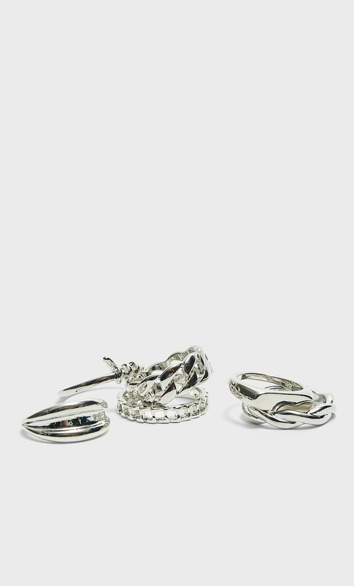 Set of 6 knot rings