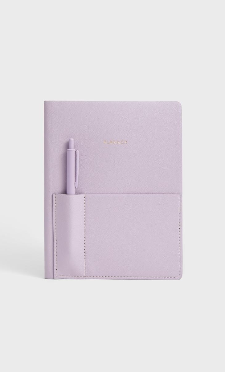 Agenda en similicuir avec stylo
