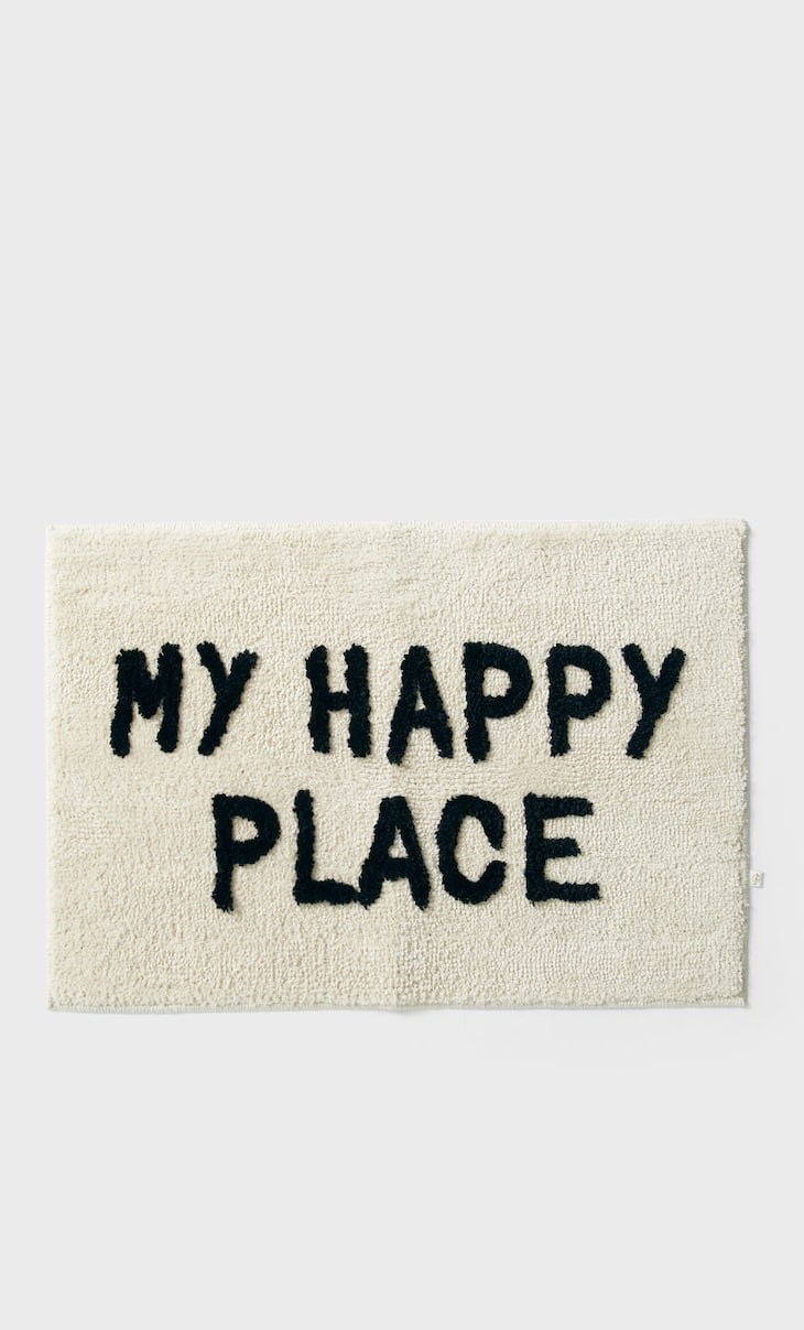 'My happy place' rug
