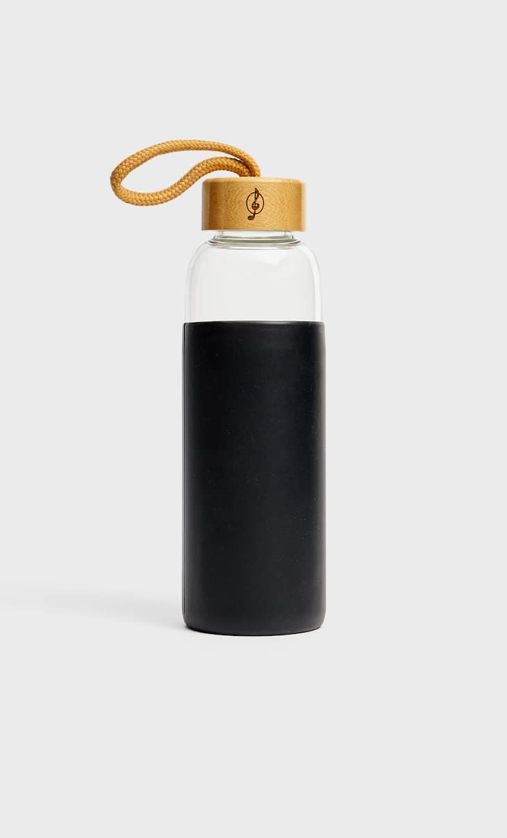 Silicone glass bottle