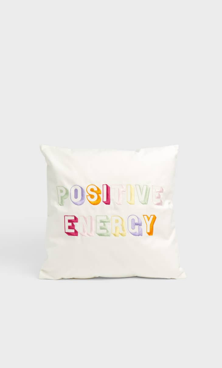 'Positive energy' cushion cover
