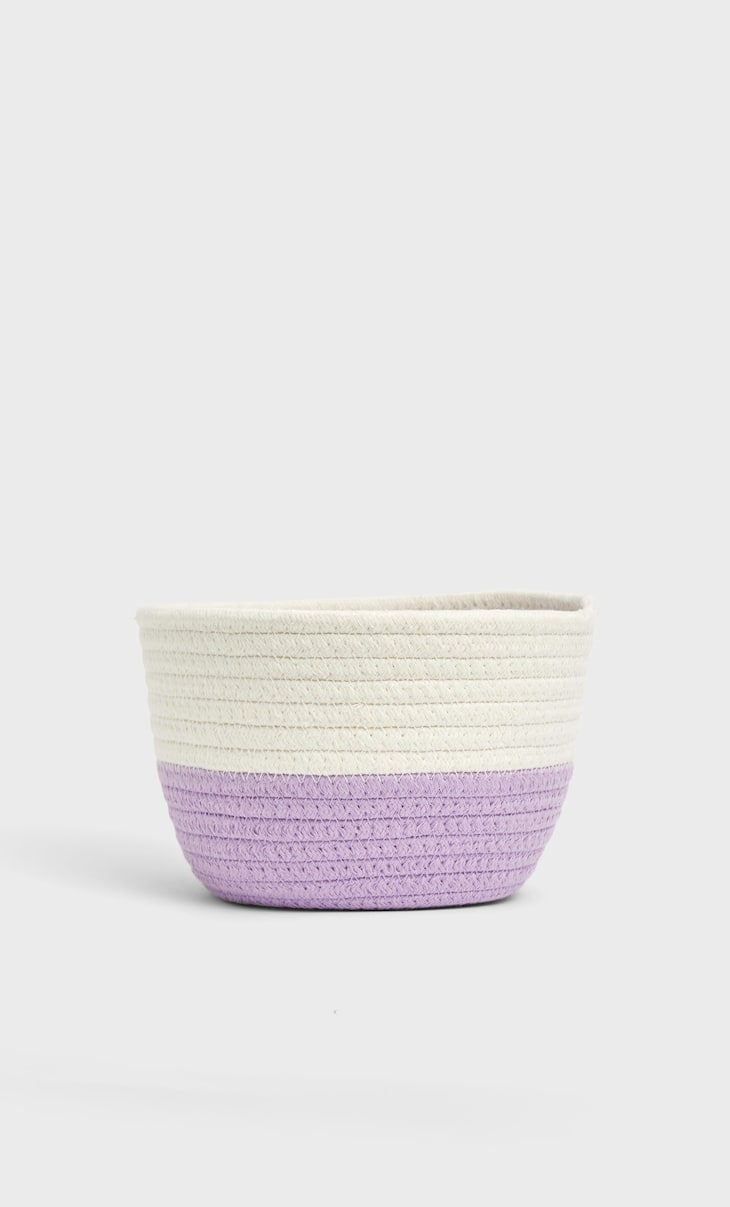 Small colour block basket