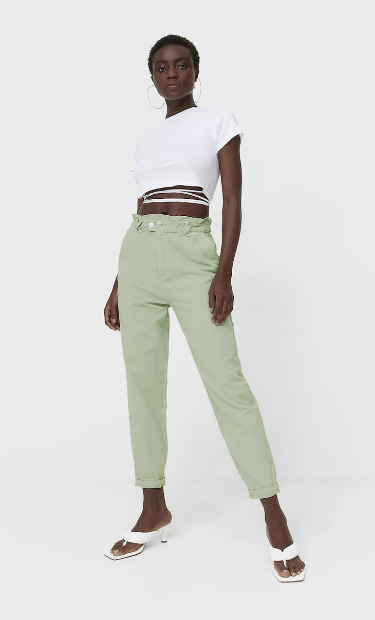 Baggy-Jeans aus Twill