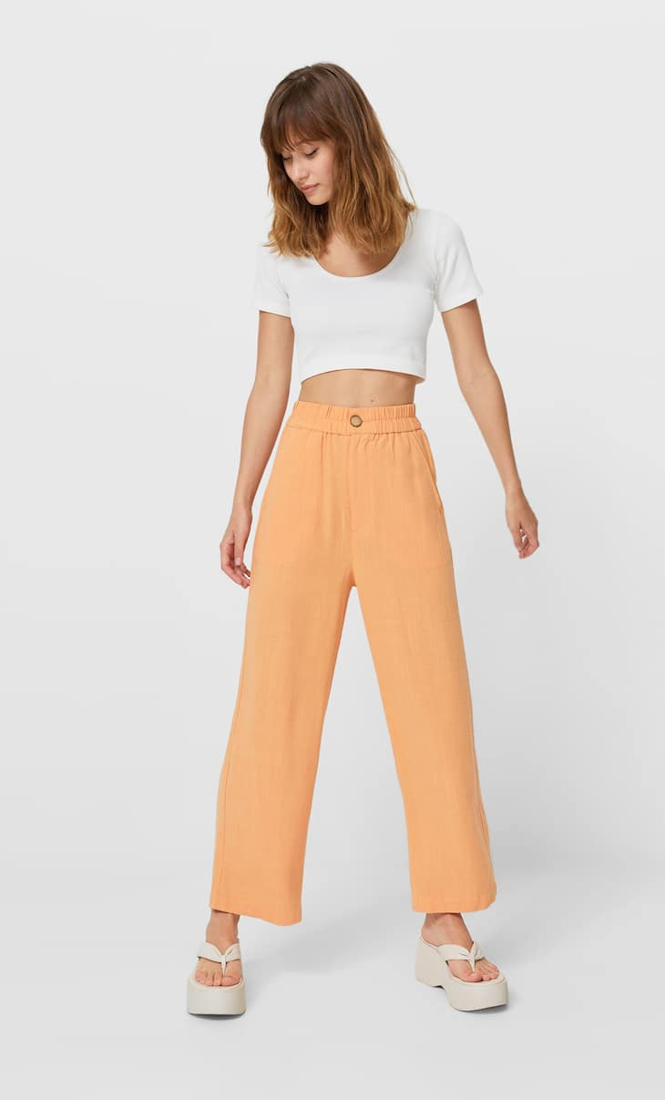 Rustykalne spodnie culotte