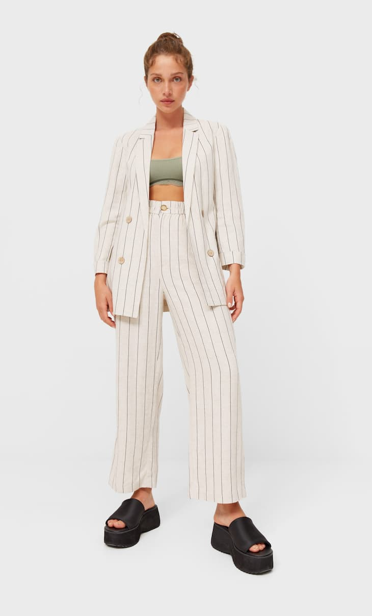 Jupe-culotte rustiques rayures