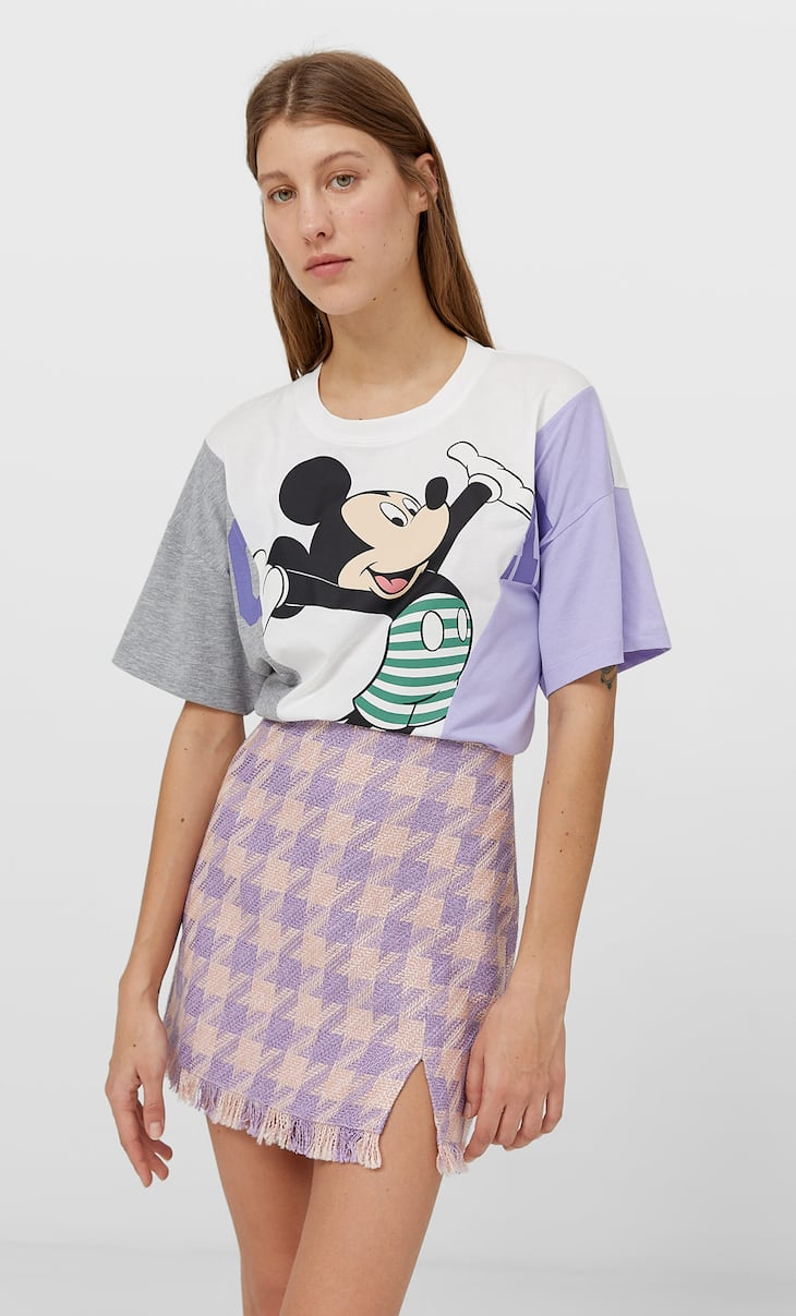 90's check skirt