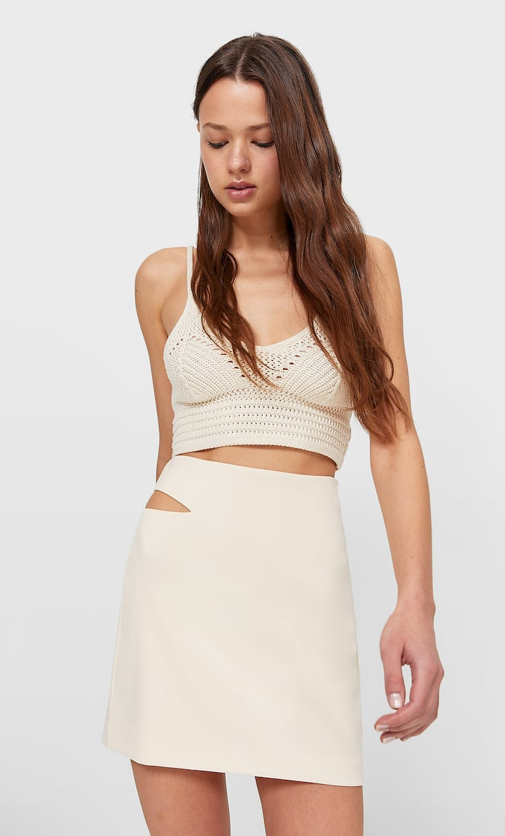 Cut-out mini skirt