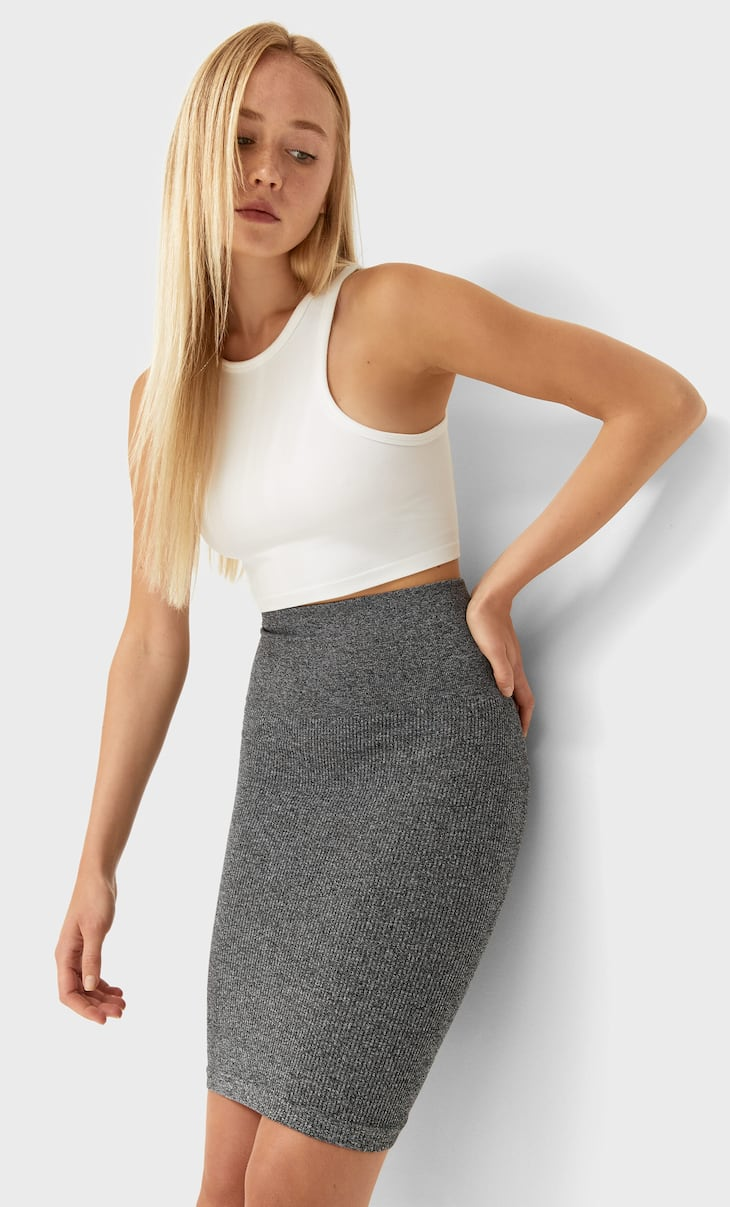Seamless mini skirt