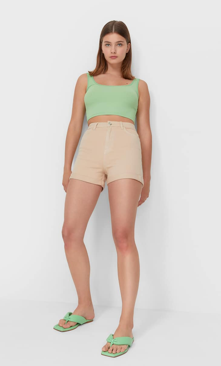 Mom-Shorts im Slim-Fit