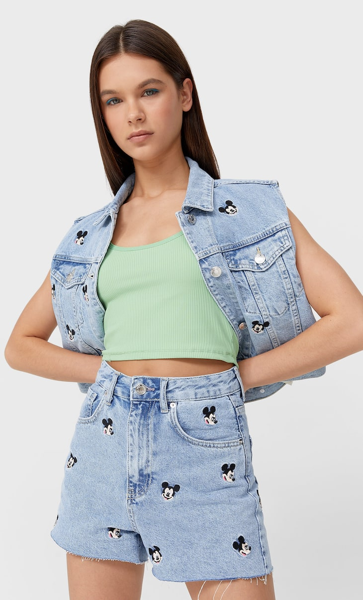 Super high-waist Mickey shorts