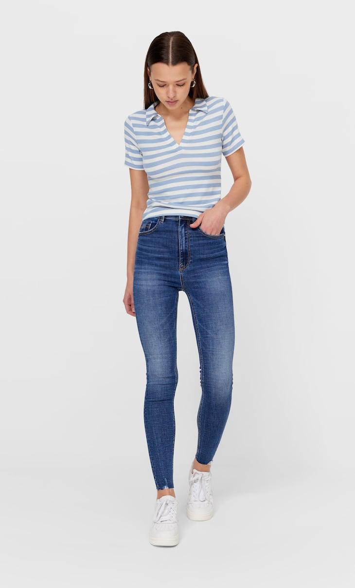 بنطلون جينز بخصر عال جدا