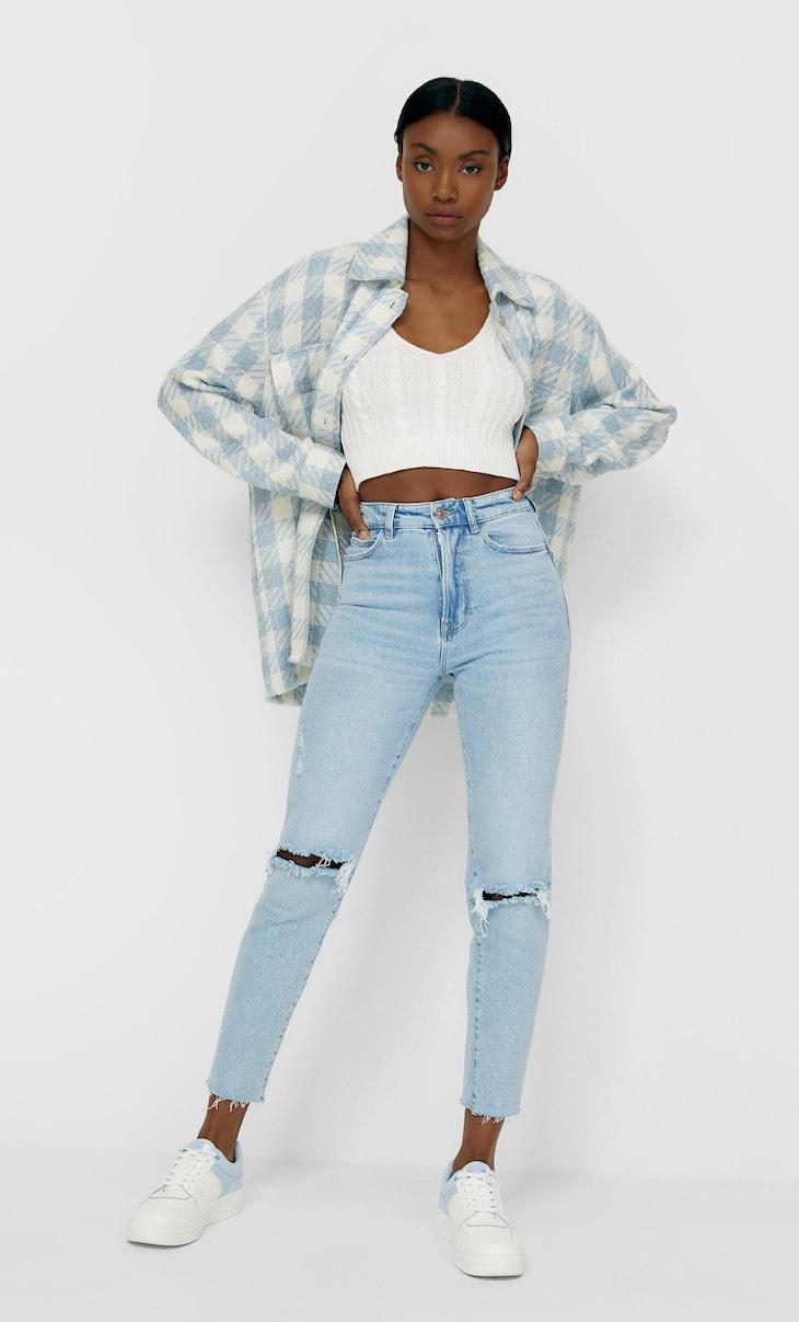 Mom-Jeans im Slim-Fit