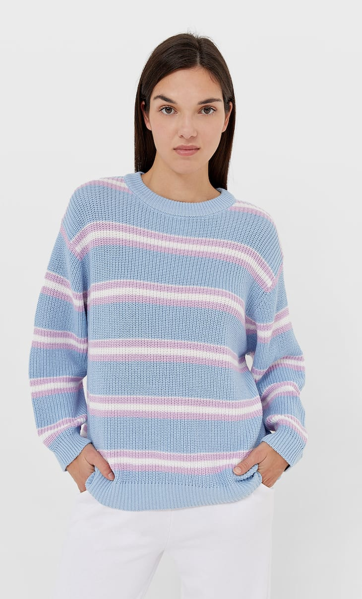 Oversize striped sweater