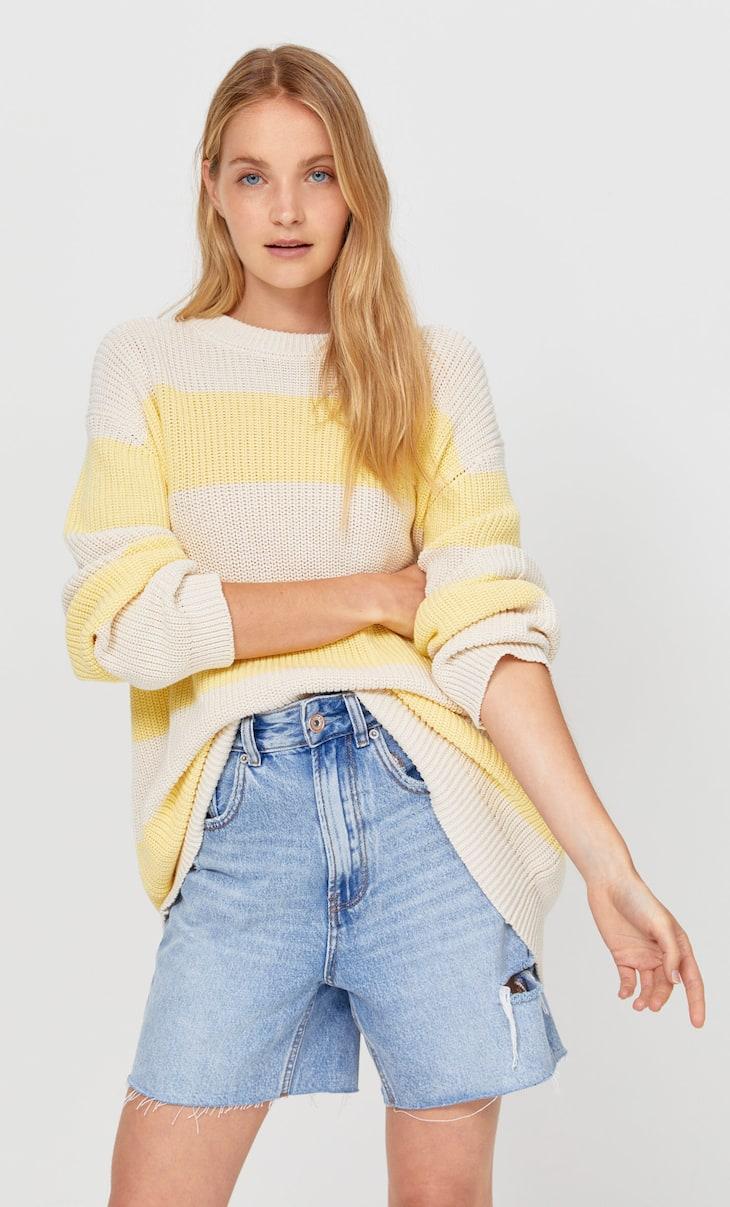 Oversize striped sweater