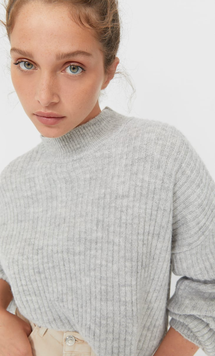 Felted cropped sweater