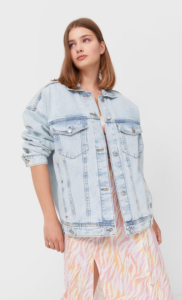 Predimenzionirana teksas jakna