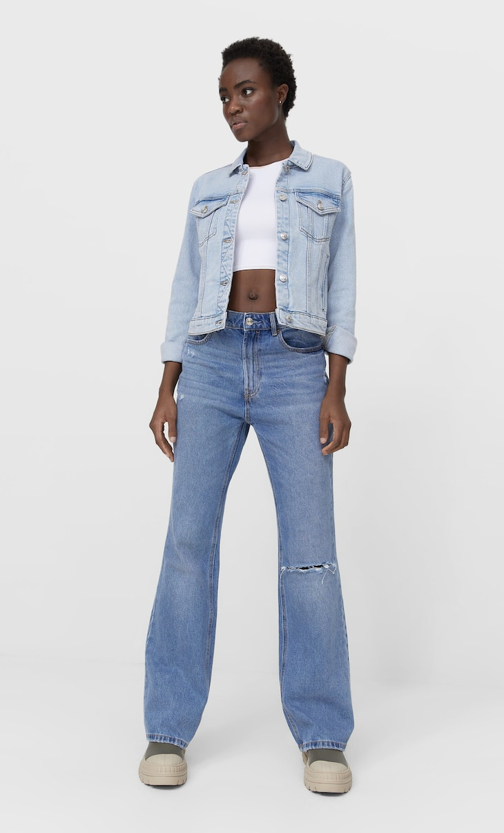 Blouson denim slim