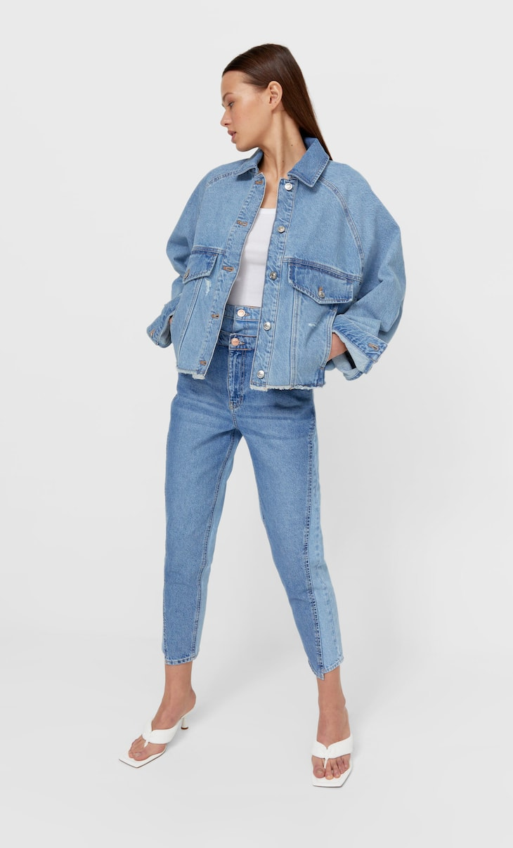 Denim jacket with a voluminous shape