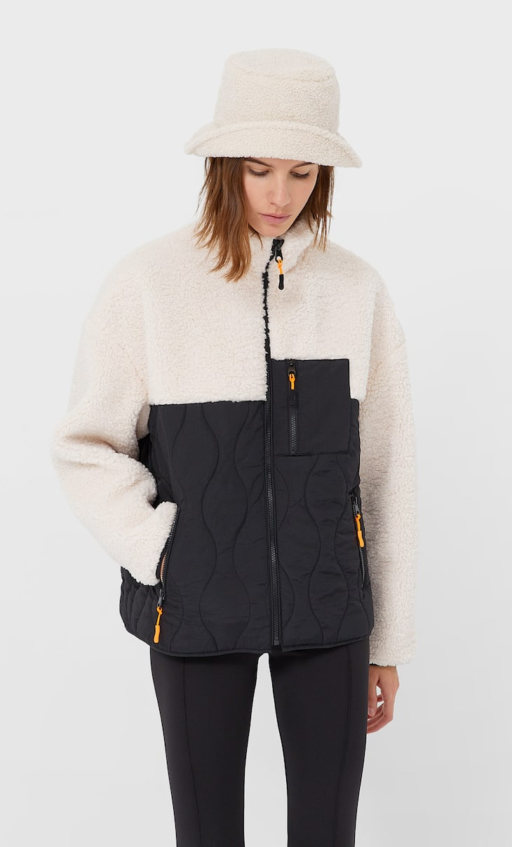 Contrast technical jacket