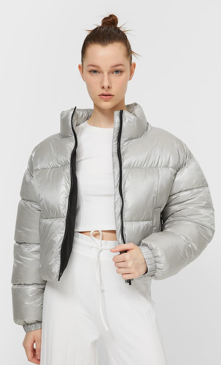 Pearly quilted jacket