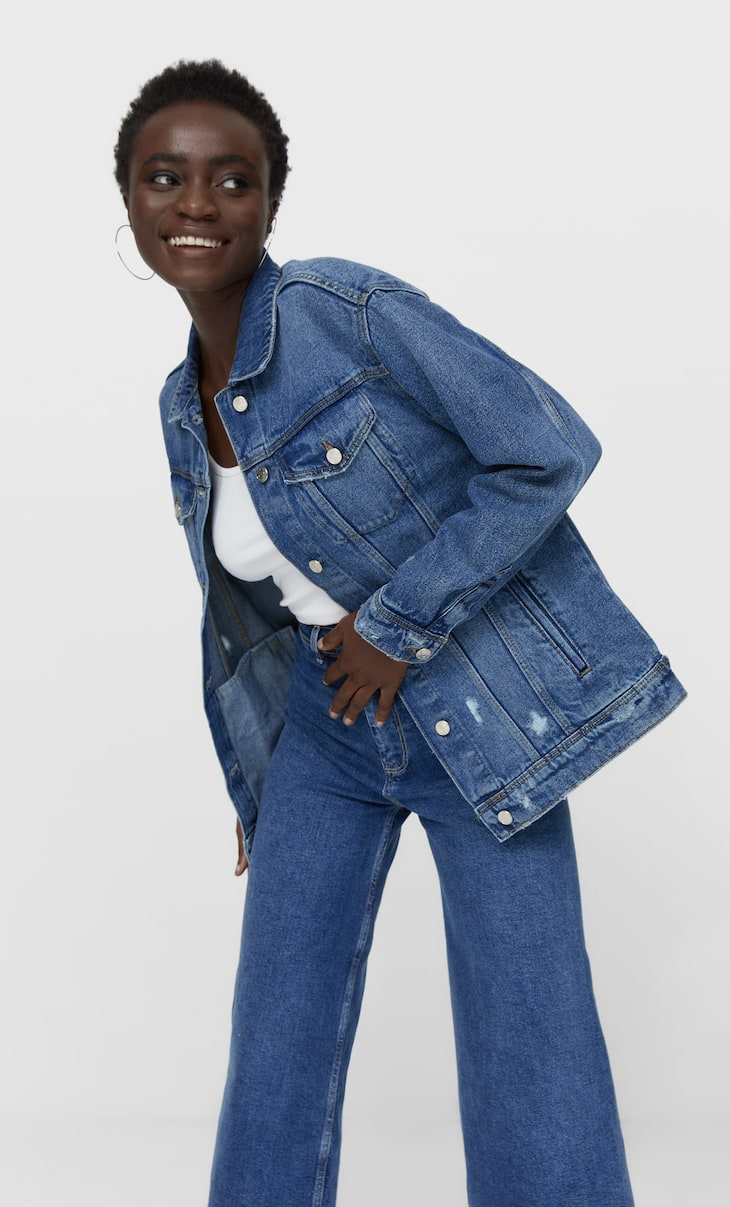 Oversize Snoopy denim jacket