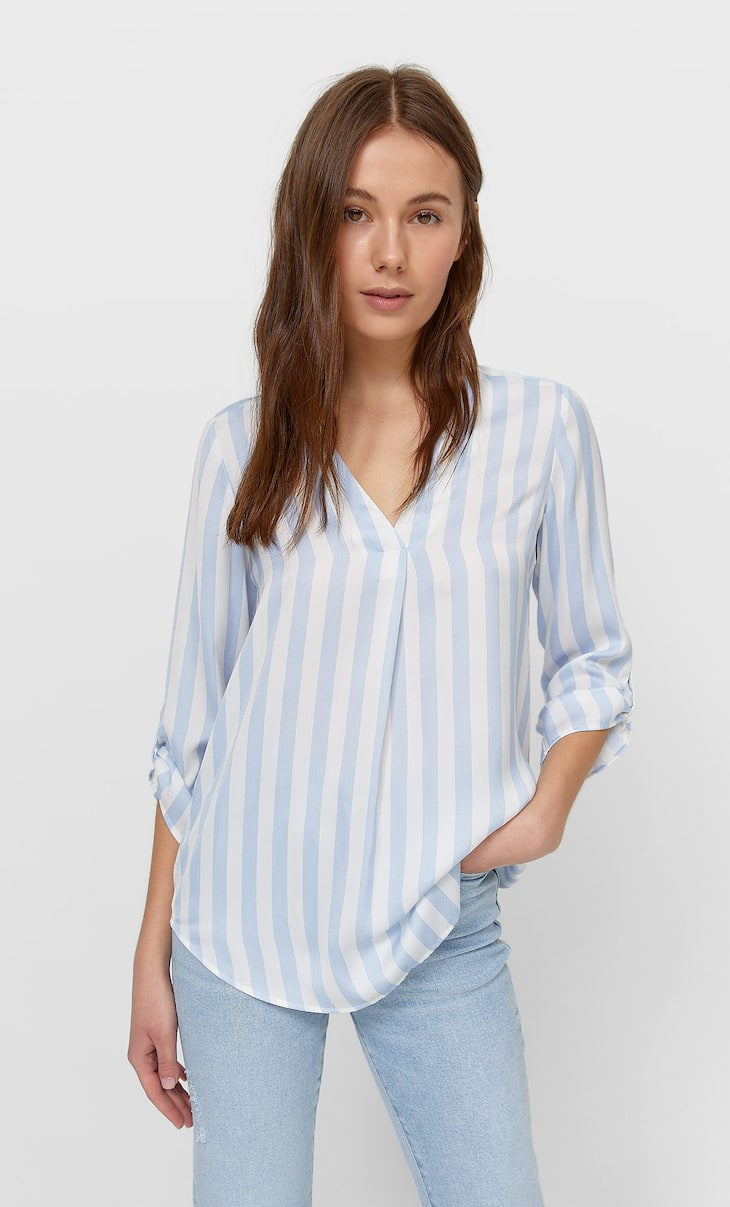 Camisa manga 3/4 rayas