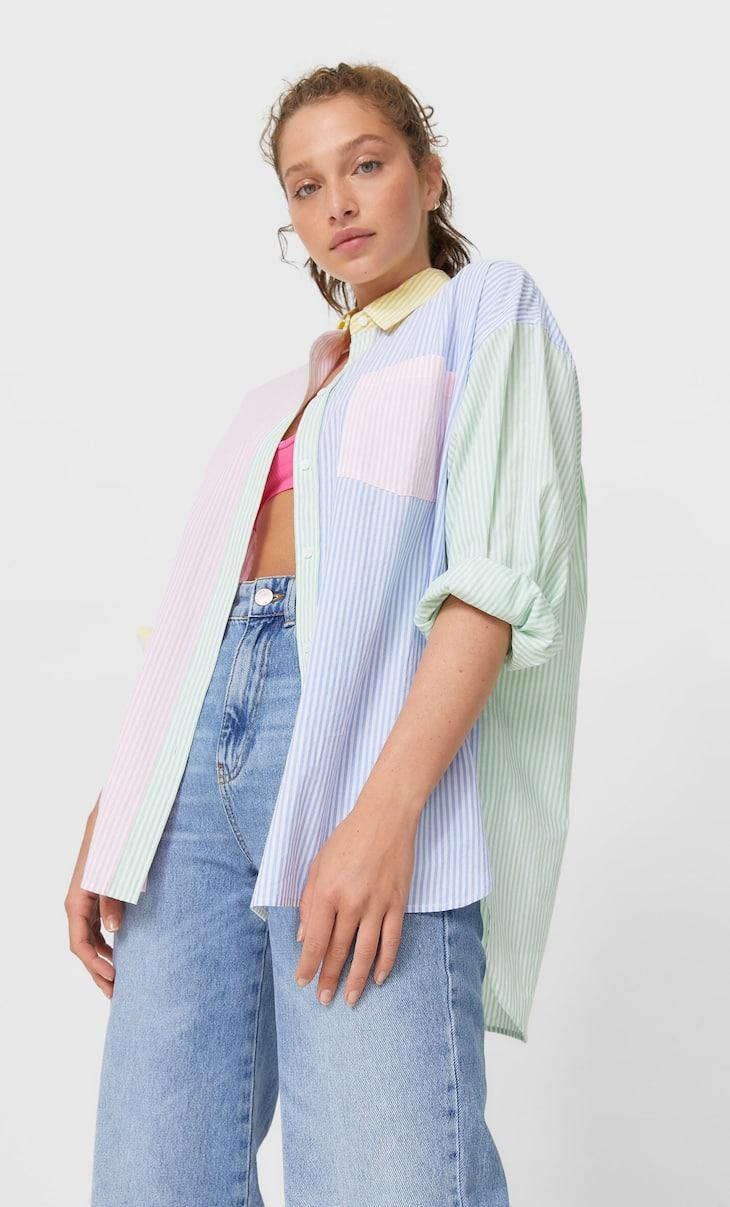 Contrast boyfriend shirt