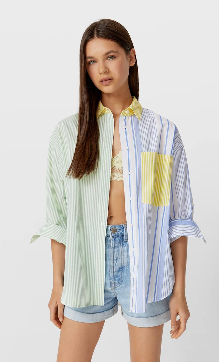 Poplin mix & match shirt