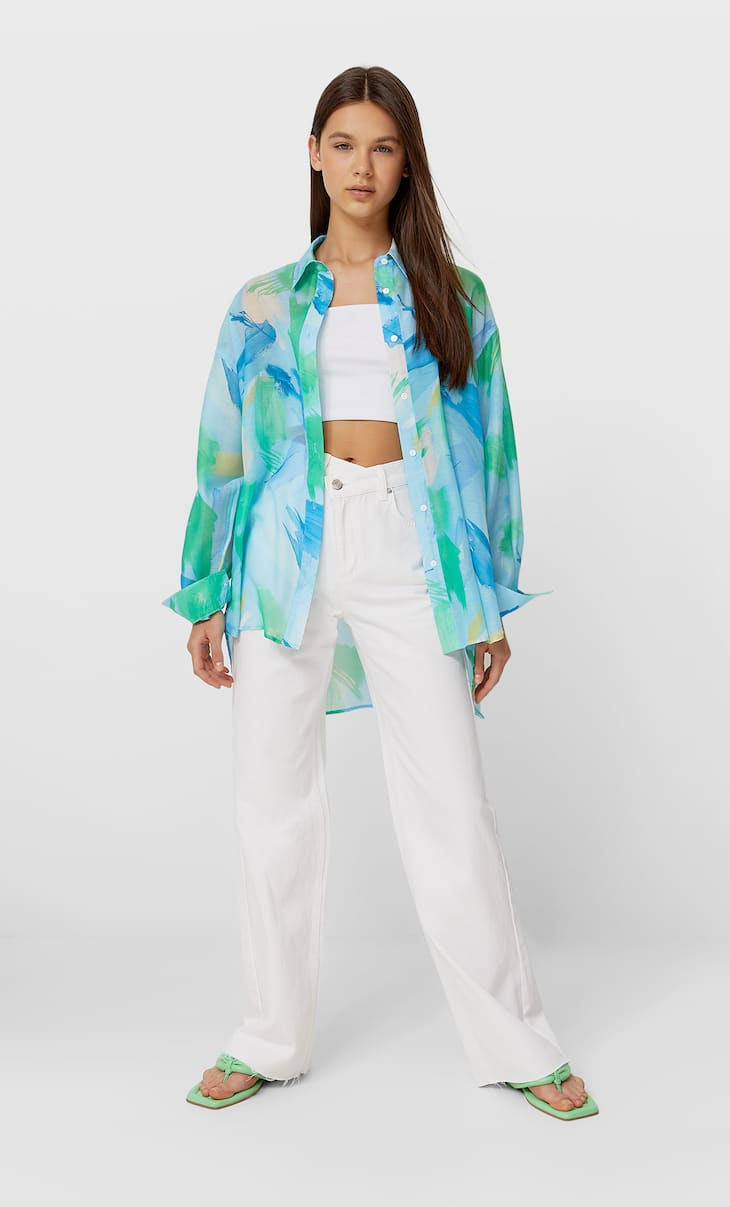 Рубашка свободного кроя в стиле бойфренд