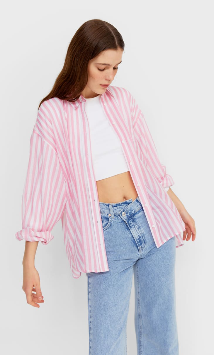 Flowing boyfriend shirt