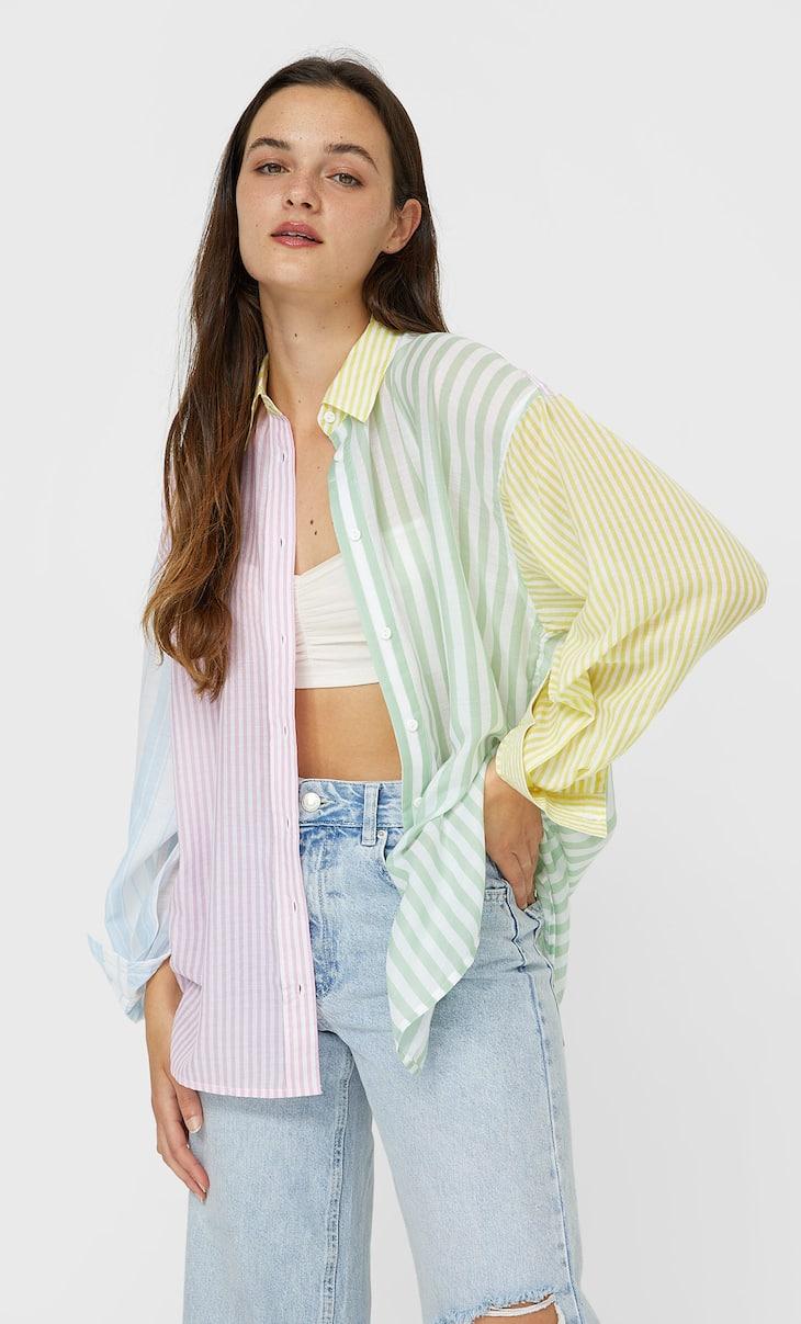 Flowing boyfriend shirt