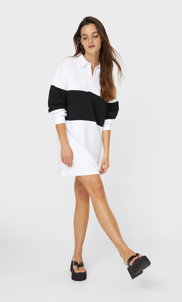 Robe polo color block