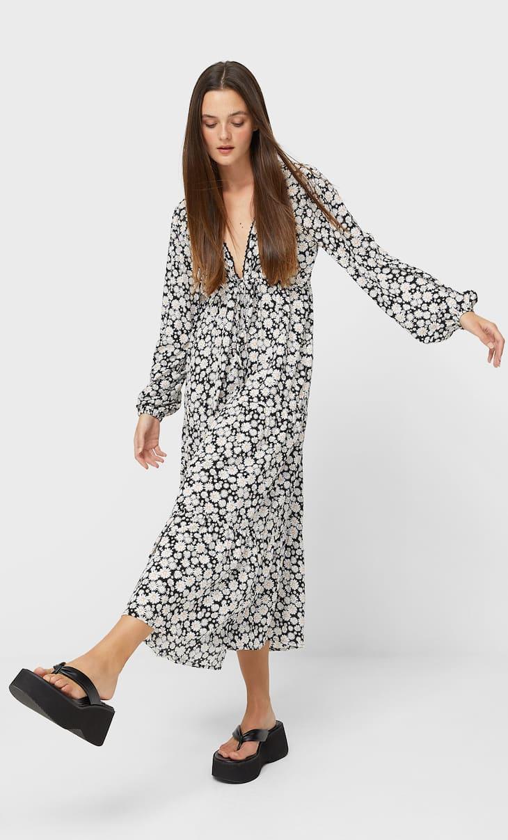 Robe longue marguerites
