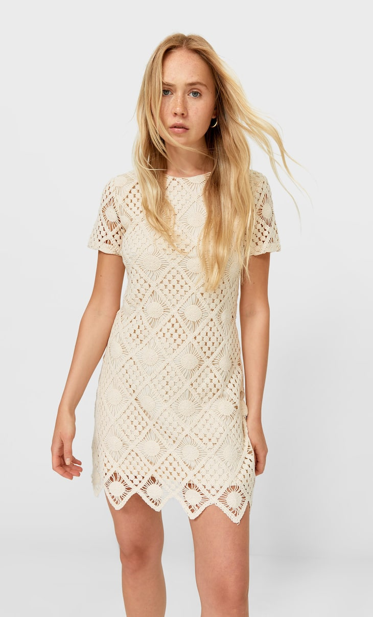 Short crochet dress