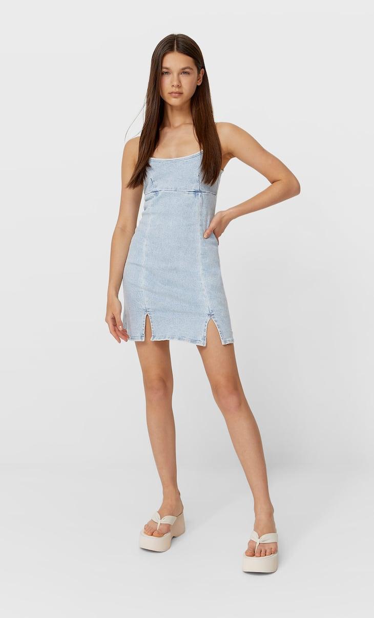 Vestido mini denim
