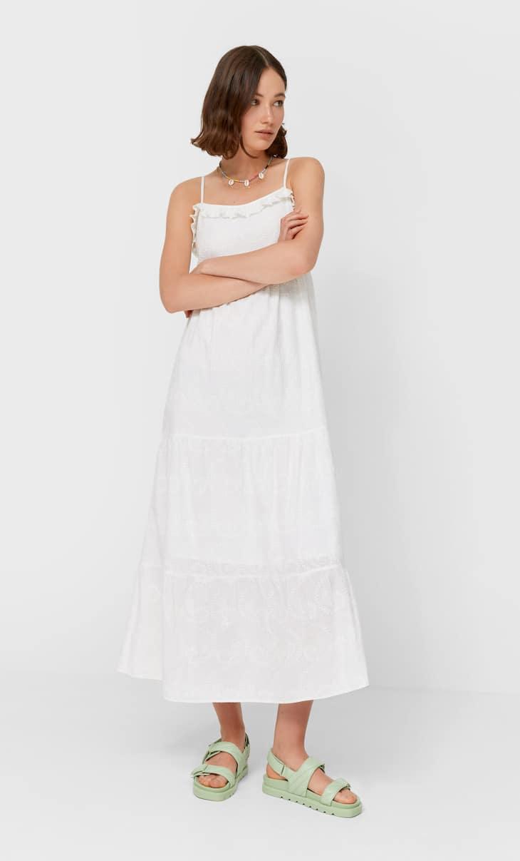 Izvezena midi haljina