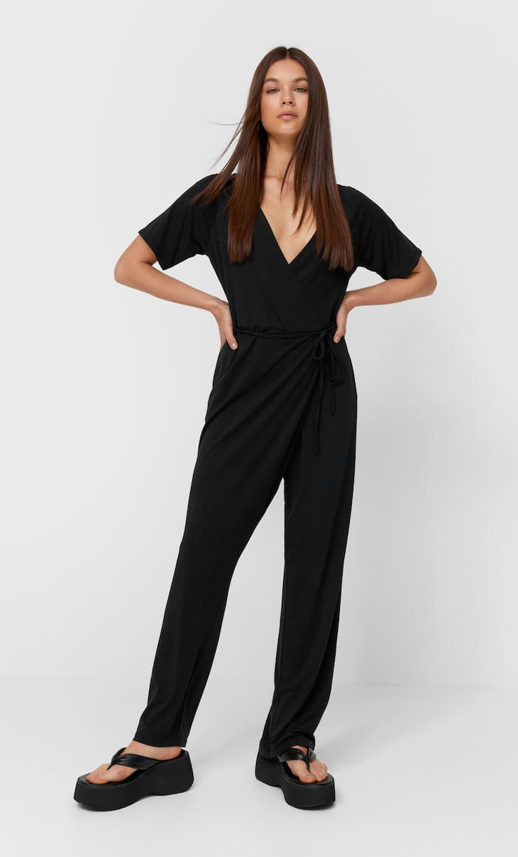 Saruel jumpsuit with short sleeves