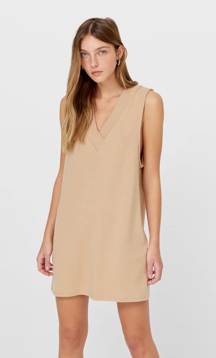 Knit vest dress